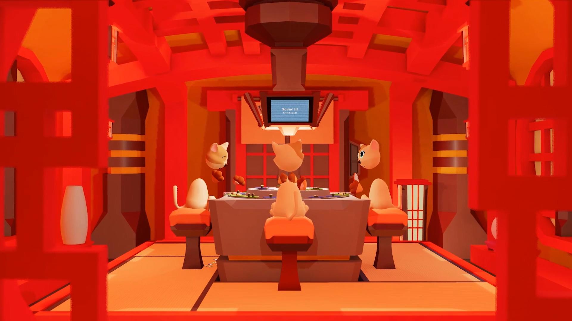 ganbatte launch vr sushi eating game